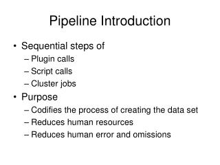 Pipeline Introduction