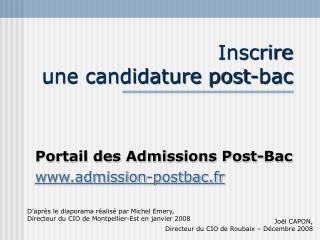 Inscrire une candidature post-bac