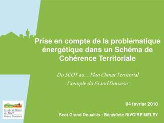 Prise en compte de la problématique énergétique dans un Schéma de Cohérence Territoriale