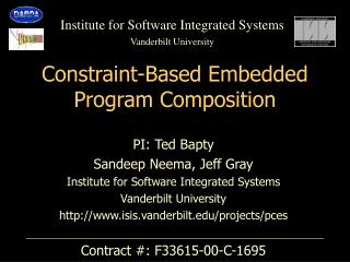 Constraint-Based Embedded Program Composition