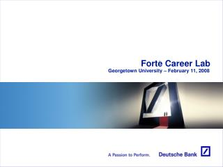 Forte Career Lab