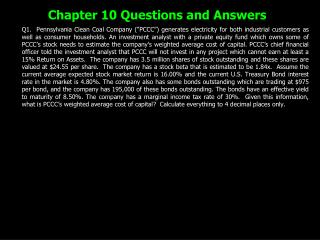Chapter 10 Questions and Answers