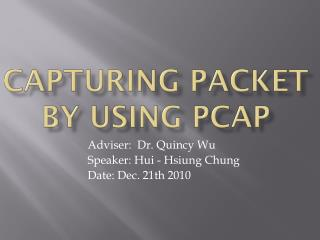 Capturing Packet by using PCAP