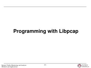 Programming with Libpcap