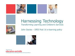 Harnessing Technology Transforming Learning and Children's Services
