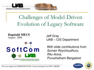 Challenges of Model-Driven  Evolution of Legacy Software