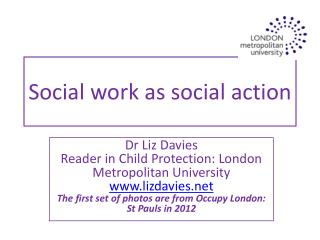 Social work as social action