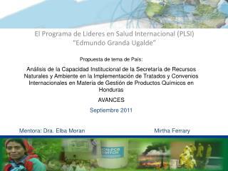 """El Programa de Lideres en Salud Internacional (PLSI) """"Edmundo Granda Ugalde"""""""