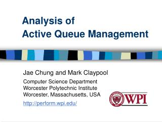 Analysis of  Active Queue Management