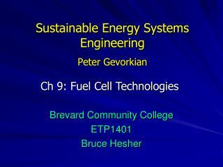 Sustainable Energy Systems Engineering Peter Gevorkian