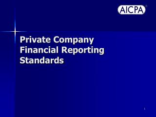 Private Company Financial Reporting Standards