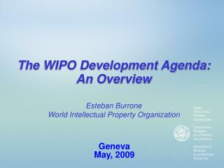 The WIPO Development Agenda: An Overview