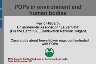 POPs in environment and human bodies