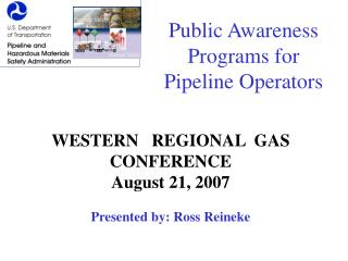 Public Awareness Programs for Pipeline Operators