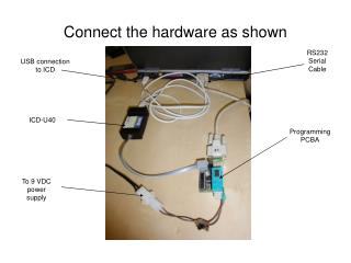 Connect the hardware as shown