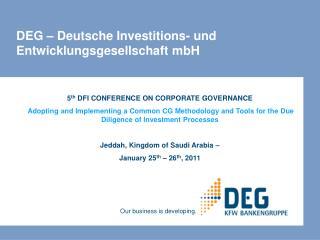DEG – Deutsche Investitions- und Entwicklungsgesellschaft mbH