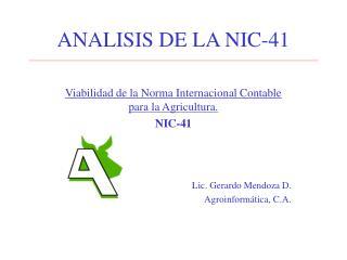 ANALISIS DE LA NIC-41
