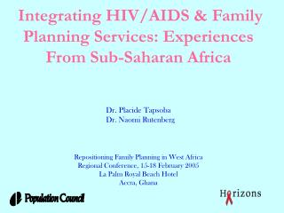 African Family Planning Clinics