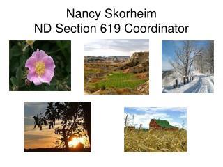 Nancy Skorheim ND Section 619 Coordinator