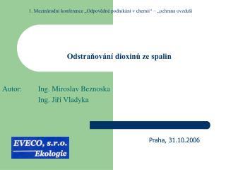 Odstraňování dioxinů ze spalin