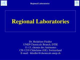 Regional Laboratories