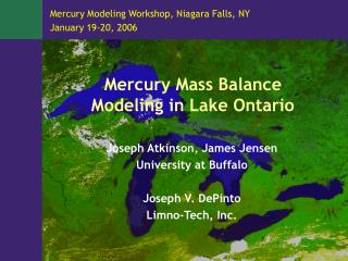 Mercury Mass Balance Modeling in Lake Ontario