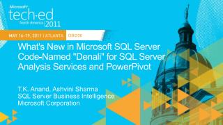 Whats New in Microsoft SQL Server  Code-Named Denali for SQL Server  Analysis Services and PowerPivot