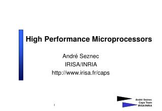 High Performance Microprocessors