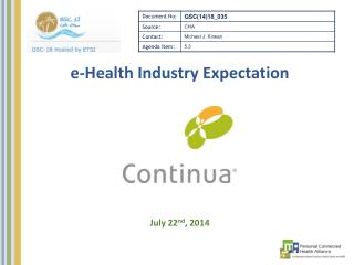 e-Health Industry Expectation