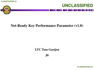 Net-Ready Key Performance Parameter (v1.0)
