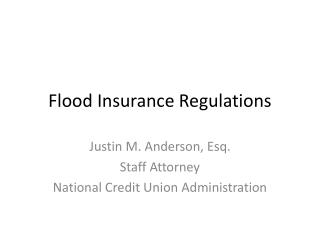 Flood Insurance Regulations