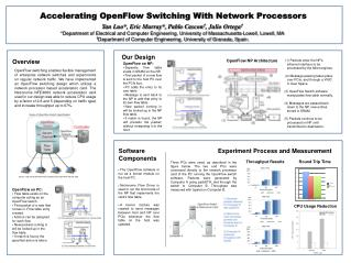 Accelerating OpenFlow Switching With Network Processors