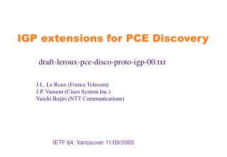 IETF 64, Vancouver 11/09/2005