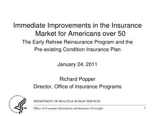 Immediate Improvements in the Insurance Market for Americans over 50