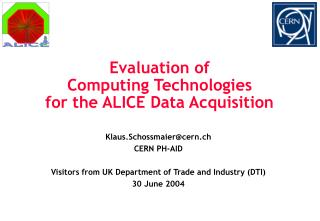 Evaluation of  Computing Technologies  for the ALICE Data Acquisition