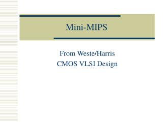 Mini-MIPS