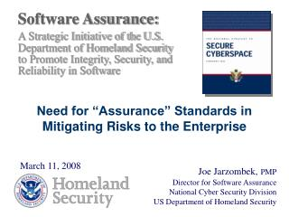 Software Assurance: A Strategic Initiative of the U.S. Department of Homeland Security
