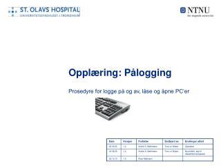 Oppl�ring: P�logging