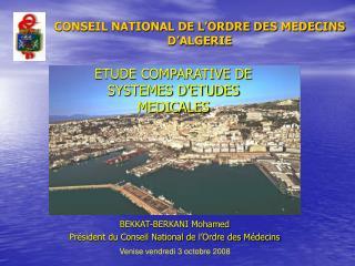 CONSEIL NATIONAL DE L'ORDRE DES MEDECINS D'ALGERIE