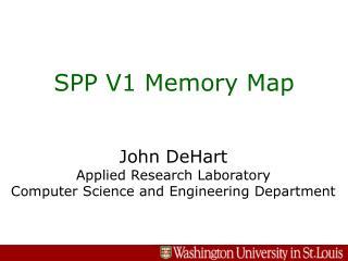 SPP V1 Memory Map