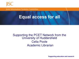 Equal access for all