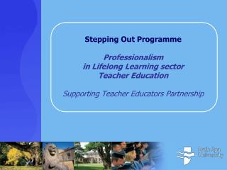 Professionalism in LL Teacher Education Gender  balance