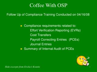 Coffee With OSP
