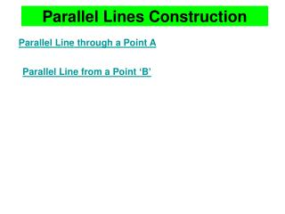 Parallel Lines Construction