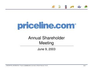 Annual Shareholder Meeting June 9, 2003