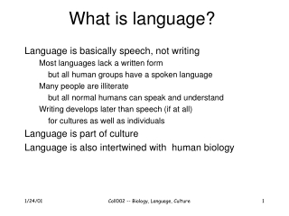 Lecture 7  Language   1. Language vs. communication   2. Broca s Aphasia   3. Wernicke s Aphasia   4. Aphasia for action
