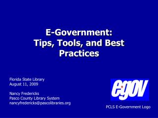E-Government: Tips, Tools, and Best Practices
