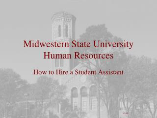 Midwestern State University Human Resources