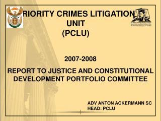 PRIORITY CRIMES LITIGATION UNIT (PCLU)