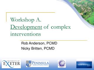 Workshop A. Development  of complex interventions